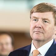 NLD/Amsterdam/20190314  - Koning bij viering 100 jaar Luchtvaart  in Nederland, Koning Willem Alexander