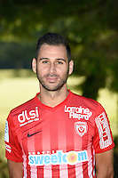 Anthony Robic of Nancy poses for a portrait during the Nancy squad photo call for the 2016-2017 Ligue 1 season on August 25, 2016 in Nancy, France<br /> Photo : Fred Marvaux / Icon Sport