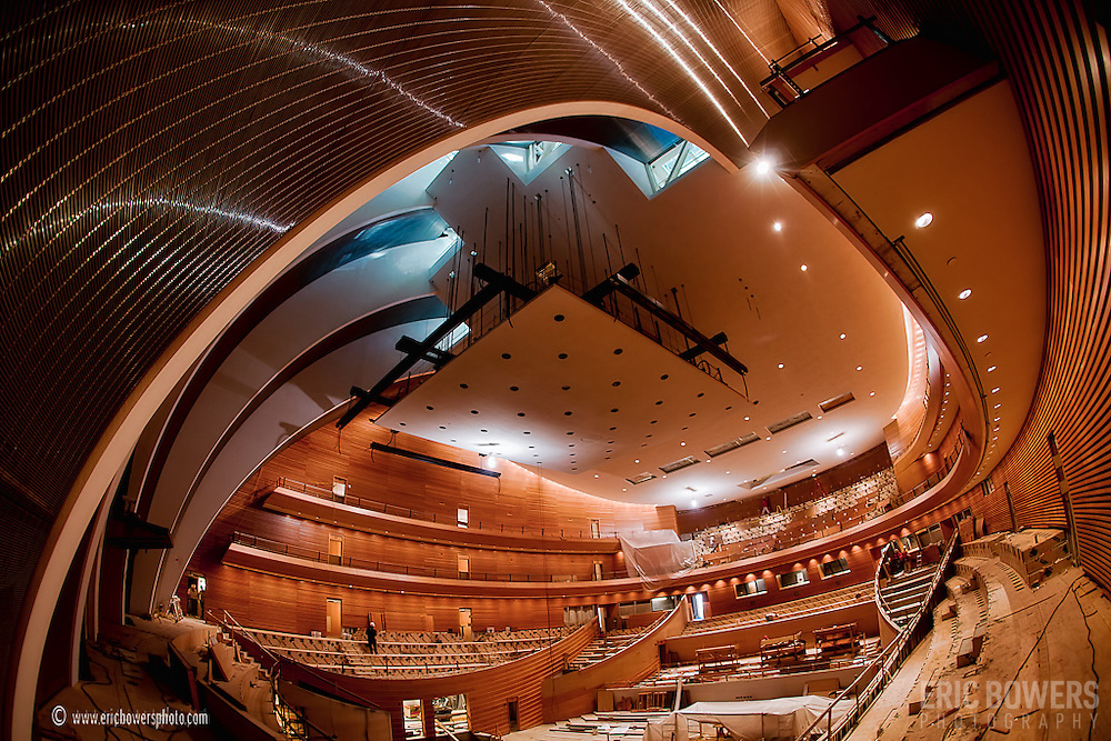 Kauffman Center for the Performing Arts Interior - Helzberg Hall in October 2010 during the construction process.