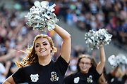 Hull FC cheerleaders during the Betfred Super League match between Hull FC and Hull Kingston Rovers at Kingston Communications Stadium, Hull, United Kingdom on 19 April 2019.