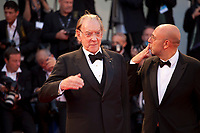 Donald Sutherland and Paolo Virzi at the premiere of the film The Leisure Seeker (Ella & John) at the 74th Venice Film Festival, Sala Grande on Sunday 3 September 2017, Venice Lido, Italy.