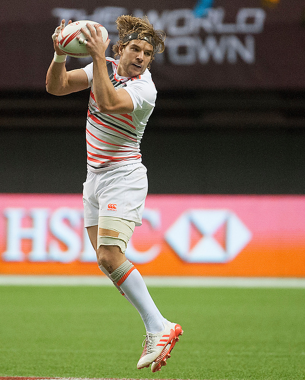 England captain Tom Mitchell during the pool stages of the Canada Sevens,  Round Six of the World Rugby HSBC Sevens Series in Vancouver, British Columbia, Saturday March 11, 2017. <br /> <br /> Jack Megaw.<br /> <br /> www.jackmegaw.com<br /> <br /> jack@jackmegaw.com<br /> @jackmegawphoto<br /> [US] +1 610.764.3094<br /> [UK] +44 07481 764811