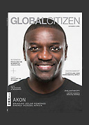 Cover Photo of Akon for Global Citizen Magazine. Atricle : Akon Bringing Solar Power to Africa.