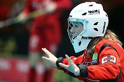 May 5, 2018 - Schweiz - 180505 Sveriges Cornelia Palmer under U19 VM Semifinalen i innebandy mellan Sverige och Polen den 5 maj 2018 i St Gallen  (Credit Image: © Per Wiklund/Bildbyran via ZUMA Press)