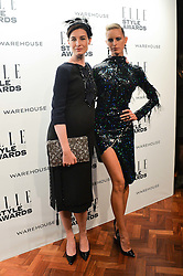 Left to right, ERIN O'CONNOR and KAROLINA KURKOVA at the 17th Elle Style Awards 2014 in association with Warehouse held at One Embankment, 8 Victoria Embankment, London on 18th February 2014.