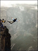 Base Jumping in Lyse Fjord, Norway