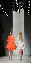 © Licensed to London News Pictures. 18/09/2012. London, England. Fashion designer Simone Rocha, daughter of John Rocha, presents her collection at a catwalk show during London Fashion Week. Photo credit: Bettina Strenske/LNP