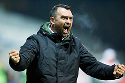 Alen Sculac, head coach of Koper reacts after first goal of Koper during football match between FC Luka Koper and NK Krka in 16th Round of Prva liga Telekom Slovenije 2014/15, on November 2, 2014 in Stadium Bonifika, Koper, Slovenia. Photo by Vid Ponikvar / Sportida