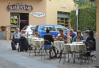 Al fresco dining, Belaggio, Lake Como, Italy, 4th October 2014, 201410043650<br /> <br /> Copyright Image from Victor Patterson, 54 Dorchester Park, Belfast, UK, BT9 6RJ<br /> <br /> t: +44 28 9066 1296<br /> m: +44 7802 353836<br /> vm +44 20 8816 7153<br /> <br /> e1: victorpatterson@me.com<br /> e2: victorpatterson@gmail.com<br /> <br /> www.victorpatterson.com<br /> <br /> IMPORTANT: Please see my Terms and Conditions of Use at www.victorpatterson.com
