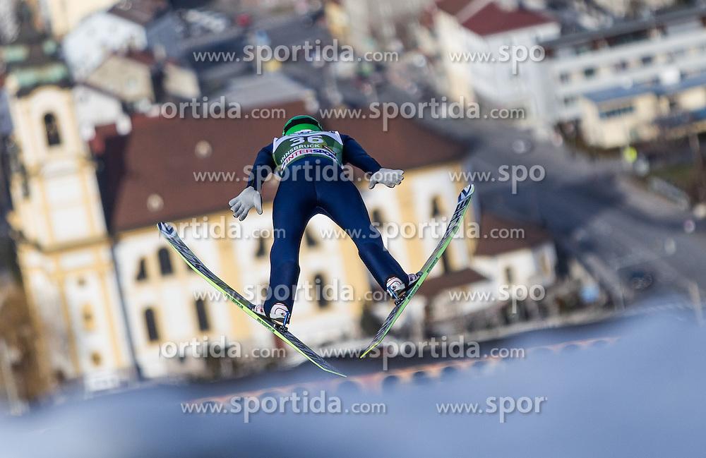 03.01.2014, Bergisel Schanze, Innsbruck, AUT, FIS Ski Sprung Weltcup, 62. Vierschanzentournee, Training, im Bild Denis Kornilov (RUS) // Denis Kornilov (RUS) during practice Jump of 62nd Four Hills Tournament of FIS Ski Jumping World Cup at the Bergisel Schanze, Innsbruck, <br /> Austria on 2014/01/03. EXPA Pictures &copy; 2014, PhotoCredit: EXPA/ JFK