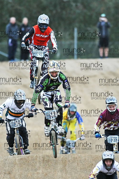 (Canberra, Australia---03 March 2012) Daniel Willis of New South Wales competing in stage 5 of the BMX Australia Probikx Junior Men series at the Melba BMX Track in Canberra, Australia. Photograph 2012 Copyright Sean Burges / Mundo Sport Images. For reproduction rights and information in Australia, contact seanburges@yahoo.com. For information elsewhere contact info@mundosportimages.com.