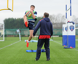 Dominic Sprague – SGS College of Bristol Academy U18 during warm-up - Mandatory by-line: Paul Knight/JMP - 07/01/2017 - RUGBY - SGS Wise Campus - Bristol, England - Bristol Academy U18 v Exeter Chiefs U18 - Premiership U18 League
