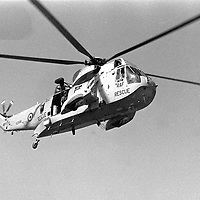 One of the RAF Search and Rescue Sea King Helicopters based at RAF Leconfield in East Yorkshire