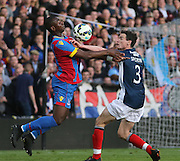 Yannick Bolasie and Paul McGinn - Crystal Palace v Dundee - Julian Speroni testimonial match at Selhurst Park<br /> <br />  - &copy; David Young - www.davidyoungphoto.co.uk - email: davidyoungphoto@gmail.com