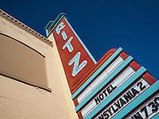 The art deco Ritz Theater marquee in Ritzville, Washington
