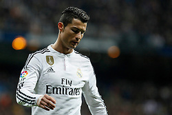 14.02.2015, Estadio Santiago Bernabeu, Madrid, ESP, Primera Division, Real Madrid vs Deportivo La Coruna, 23. Runde, im Bild Real Madrid&acute;s Cristiano Ronaldo regrets his performance // during the Spanish Primera Division 23rd round match between Real Madrid vs Deportivo La Coruna at the Estadio Santiago Bernabeu in Madrid, Spain on 2015/02/14. EXPA Pictures &copy; 2015, PhotoCredit: EXPA/ Alterphotos/ Victor Blanco<br /> <br /> *****ATTENTION - OUT of ESP, SUI*****
