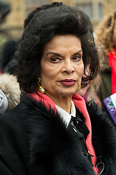© Licensed to London News Pictures. 04/03/2018. London, UK. BIANCA JAGGER takes part in the #March4Women rally calling for gender equality. Photo credit: Ray Tang/LNP