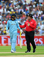 Cricket - 2019 ICC Cricket World Cup - Semi-Final: England vs. Australia<br /> <br /> Umpire Marais Erasmus (right) asks England's Jason Roy to leave the pitch as Umpire Dharmasena gives him out for 85, caught by Australia's Alex Carey off the bowling of Pat Cummins, at Edgbaston, Birmingham.<br /> <br /> COLORSPORT/ASHLEY WESTERN