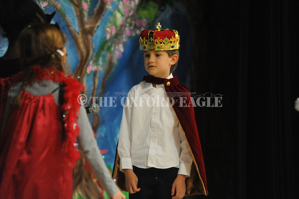 "Jackson Newman performs in ""Spiderella"" at Oxford Elementary in Oxford, Miss. on Monday, May 20, 2013. Students did plays based upon seven fairy tales."