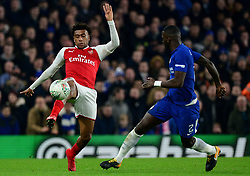 Alex Iwobi of Arsenal - Mandatory by-line: Alex James/JMP - 10/01/2018 - FOOTBALL - Stamford Bridge - London, England - Chelsea v Arsenal - Carabao Cup semi-final first leg