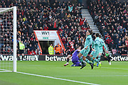 David Brooks (20) of AFC Bournemouth has a goal ruled out for offside during the Premier League match between Bournemouth and Arsenal at the Vitality Stadium, Bournemouth, England on 25 November 2018.
