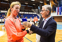 Sergeja Stefanisin during Exhibition game of Slovenian women handball legends on 29th of September, Celje, Slovenija 2018