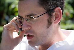 Man talking on a mobile phone,