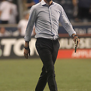Columbus Crew SC Manager GREGG BERHALTER walks off the after a 3-0 defeat to Philadelphia Union Wednesday, July. 26, 2017, at Talen Energy Stadium in Chester, PA.