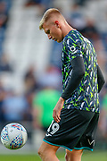 Swansea City forward Sam Surridge (19) warming up before the EFL Sky Bet Championship match between Queens Park Rangers and Swansea City at the Kiyan Prince Foundation Stadium, London, England on 21 August 2019.