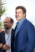 Director Asghar Farhadi and Javier Bardem at the Everybody Knows film photo call at the 71st Cannes Film Festival, Wednesday 9th May 2018, Cannes, France. Photo credit: Doreen Kennedy