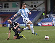 Dundee's Andy Black skips past Ross County's Martin Woods - Ross County v Dundee, SPFL Premiership at The Global Energy Stadium<br /> <br />  - &copy; David Young - www.davidyoungphoto.co.uk - email: davidyoungphoto@gmail.com
