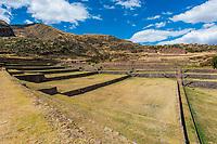 Tipon, Incas ruins in the peruvian Andes at Cuzco Peru