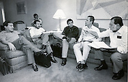 Fotos de Archivo de la Comandancia General del Frente Farabundo Marti (FMLN) durante los anos de la guerra civil. Leonel Gonalez, Francisco Jovel, Joaquin Villalobos, Eduardo Sancho y Jorge Schafik Handal. Photo: Imagenes Libres.