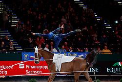 HEPPLER Lukas (SUI), Keep Cool III<br /> Leipzig - Partner Pferd 2018   <br /> FEI World Cup Vaulting Herren 1. Umlauf <br /> © www.sportfotos-lafrentz.de/Stefan Lafrentz