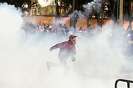 Demonstators and police clashed in San Lázaro, where Mexico's congress meets, during Enrique Peña Nieto's inauguration on December 1st, 2012/ Manifestantes y policías se enfrentaron alrededor del Congreso de la Unión, en San Lázaro, el 1 de diciembre de 2012, al asumir Enrique Peña Nieto la presidencia de México. (Prometeo Lucero)