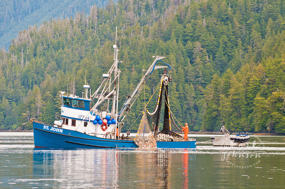 Salmon Purse Seine fishing, Sitka, Alaska