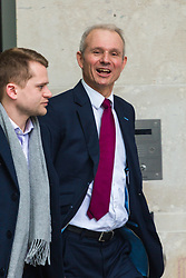 London, January 28 2018. Minister for the Cabinet Office David Lidington leaves the BBC's New Broadcasting House in London after appearing on the Andrew Marr Show. © Paul Davey