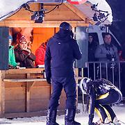 DUI/Hinterzarten/20130212 - Opname Vliegende Hollanders 2013 - Sterren van de Schans, Keizer en presentator Gerard Joling