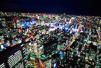 Tokyo skyline toward the Ginza from Shiodome, Tokyo, Japan