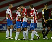 2008. November, 1st. Partido de segunda división A siputado entre el Girona F.C. como equipop local y el Real Zaragoza..COPYRIGHT: TONI VILCHES FOTOGRAFIA.