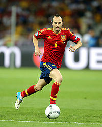 01.07.2012, Olympia Stadion, Kiew, UKR, UEFA EURO 2012, Spanien vs Italien, Finale, im Bild ANDRES INIESTA SPA // ANDRES INIESTA SPA // during the UEFA Euro 2012 Final Match between Spain and Italy at the Olympic Stadium, Kiev, Ukraine on 2012/07/01. EXPA Pictures © 2012, PhotoCredit: EXPA/ Newspix/ Michael Nowak..***** ATTENTION - for AUT, SLO, CRO, SRB, SUI and SWE only *****
