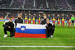 Starting eleven of Slovenia prior friendly football match between National teams of Austria and Slovenia on March 25, 2018 in Woerthersee Stadion, Klagenfurt, Austria. Photo by Mario Horvat / Sportida