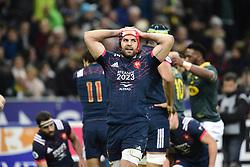 November 18, 2017 - Paris, France, France - deception de Kevin Gourdon (Fra) apres l essai de Dillyn Leyds  (Credit Image: © Panoramic via ZUMA Press)