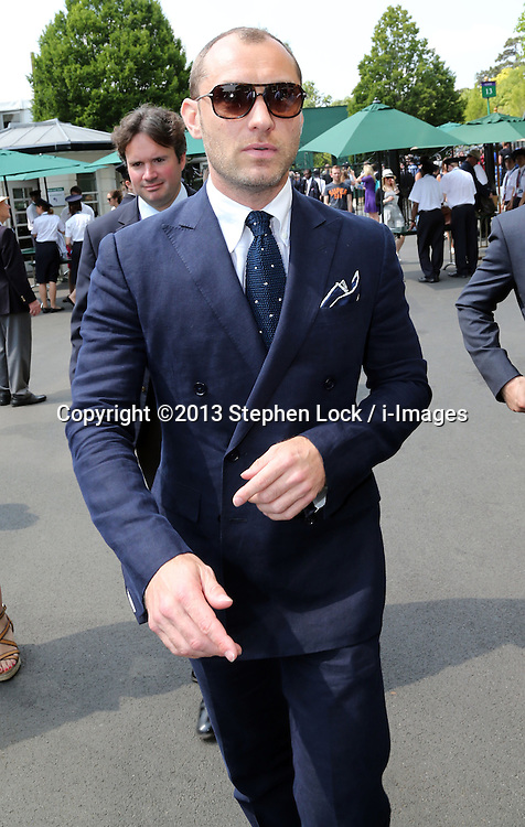Jude Law  arriving at the Wimbledon Tennis Championships in London, Friday, 5th July 2013<br />