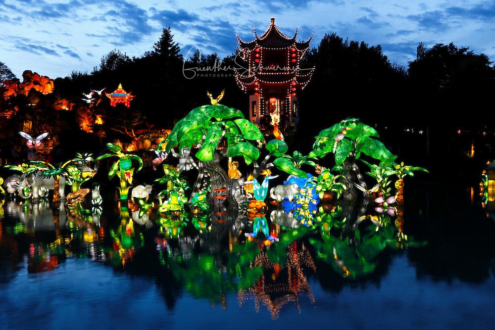 Festival of lights at the Botanic Garden, Montreal