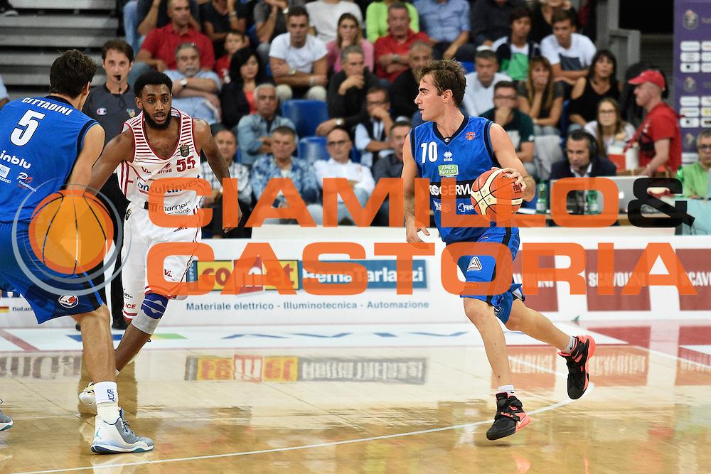 Bushati Franko<br /> Consultinvest Pesaro - Germani Basket Brescia<br /> BASKET Serie A 2016 <br /> Pesaro 02/10/2016 <br /> FOTO CIAMILLO