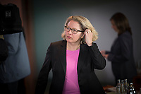 DEU, Deutschland, Germany, Berlin, 15.05.2019: Bundesumweltministerin Svenja Schulze (SPD) vor Beginn der 52. Kabinettsitzung im Bundeskanzleramt.