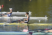 Hazewinkel, BELGIUM,  Women's Lightweight Singla Scull, Hester GOODSELL, moves away from  start pontoon in the Sunday afternoon semi final, at the GB Rowing Senior Trials, on Sun,15.04.2007  [Credit, Peter Spurrier/Intersport-images]   [Mandatory Credit, Peter Spurier/ Intersport Images]. , Rowing Course, Bloso, Hazewinkel. BELGUIM