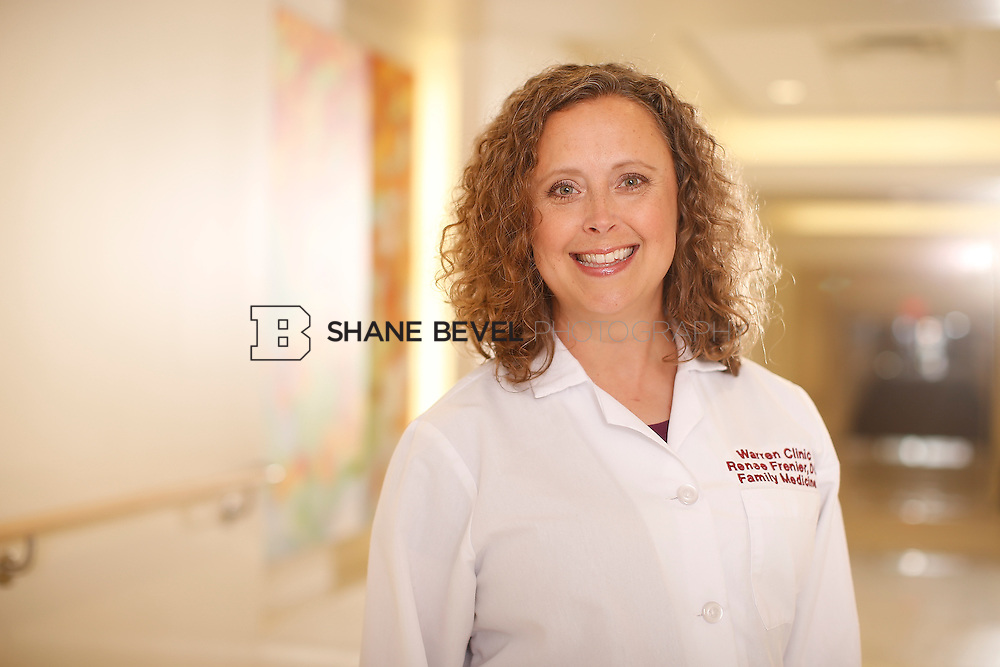 5/28/15 4:07:34 PM -- Dr. Renee Frenier of Saint Francis Health System poses for a portrait for the 2015 Advertising Campaign. <br /> <br /> Photo by Shane Bevel