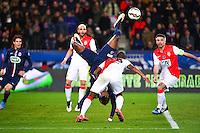 Jean Christophe BAHEBECK / Almamy TOURE - 04.03.2015 - PSG / Monaco - 1/4Finale Coupe de France<br /> Photo : Winter Press / Icon Sport
